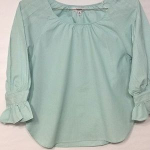 Kenzie Mint Green Striped Shirt